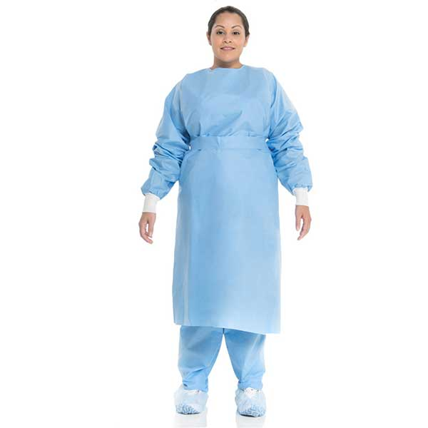 Surgical gown knitted suit