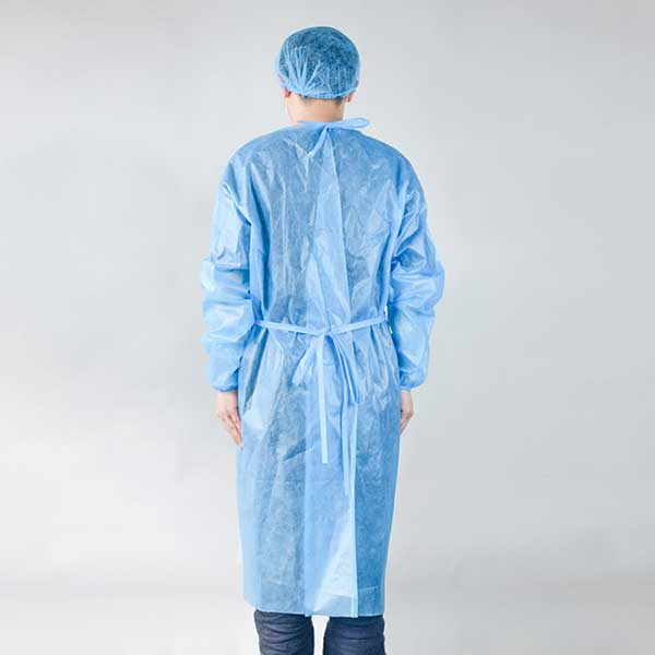 Medical use isolation gown  type D-Blue